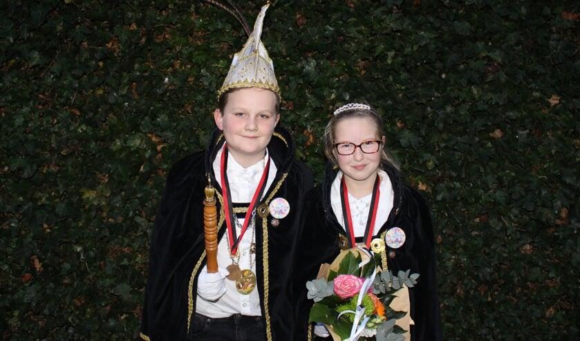 Jeugdprins Luukske XXXIV (Pim van Kaathoven) en Prinses Caithlyn   | Fotonummer: 1db2e7