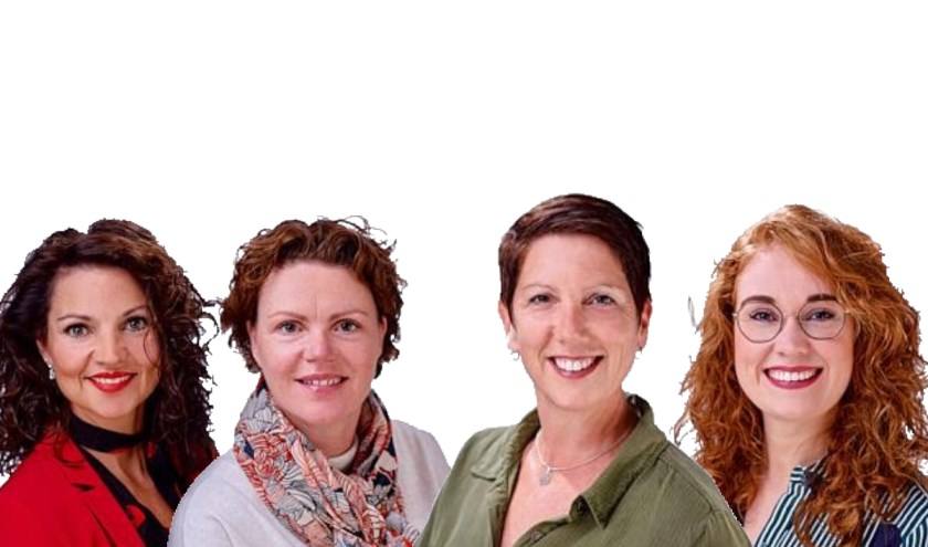 Vlnr: Tanja van de Ven, Harriëtte van Delden, Nicole Verhoeven en Veerle van Schaijk   | Fotonummer: d8c75c