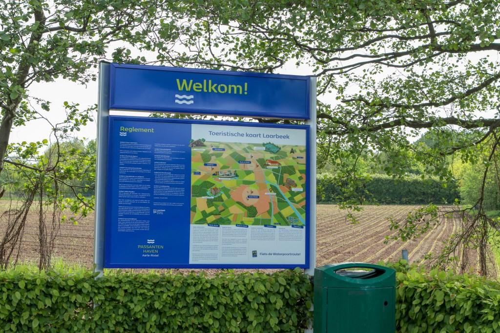De nieuwe toeristische kaart van Laarbeek bij de Passantenhaven Foto: Mark Barten © deMooiLaarbeekkrant