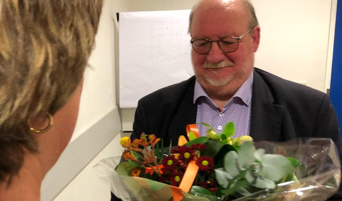 Frans Biemans, 40 jaar lid van Badminton Club Lieshout