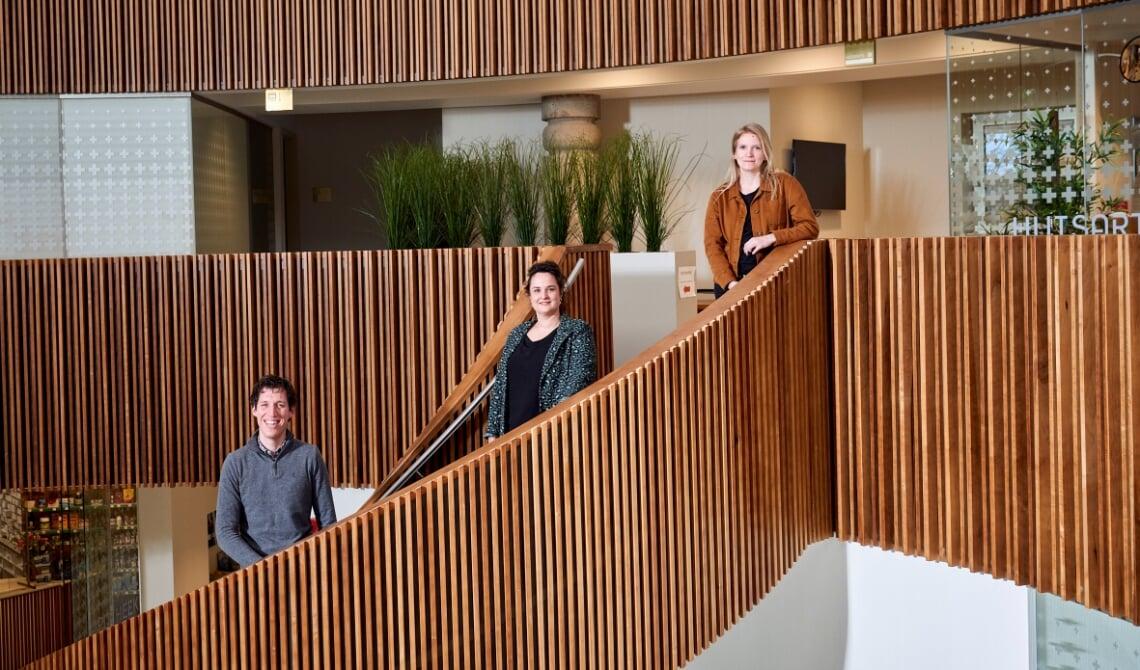 <p>Huisartsen Teun van de Ven, Emy Bunthof en Milou Schulten van huisartsenpraktijk Aarle-Rixtel.</p>