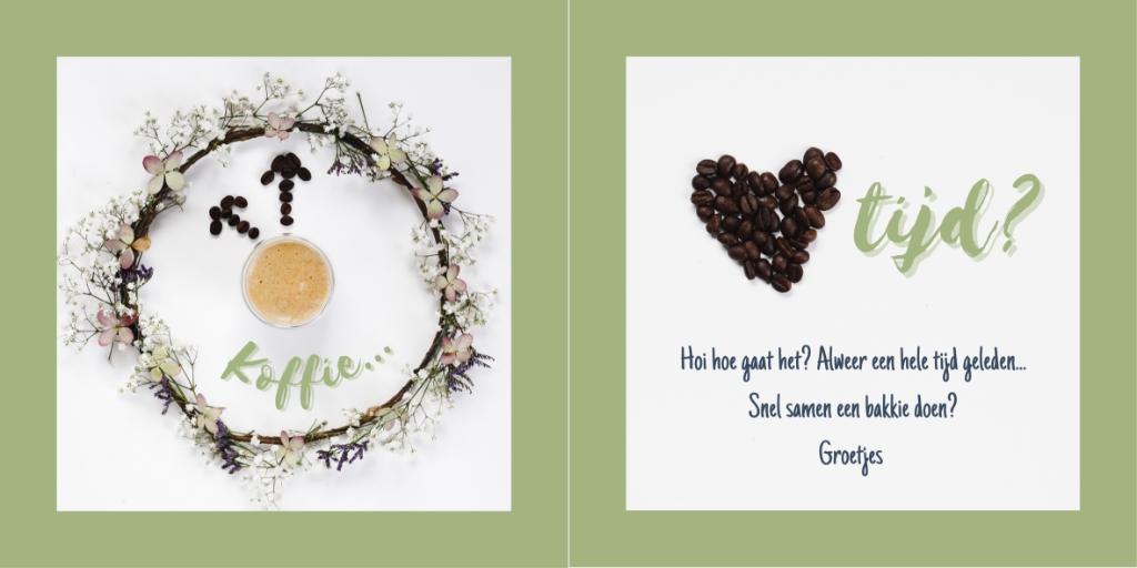 De 'koffietijd-kaart' van Debbie Kweens Foto: Debbie Kweens © deMooiLaarbeekkrant