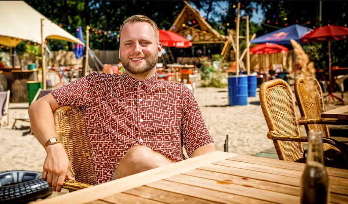 Tim Frenken op het Stadsstrand in Tilburg