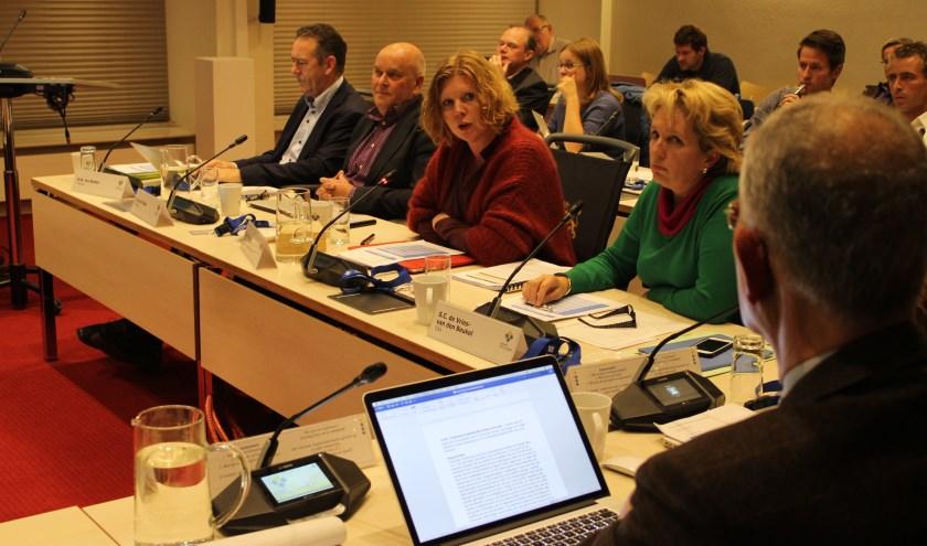 Elsbeth Koek (PvdA) in een felle discussie met Peter Scholten (CDA). | Tekst en foto: Nico Kuyt