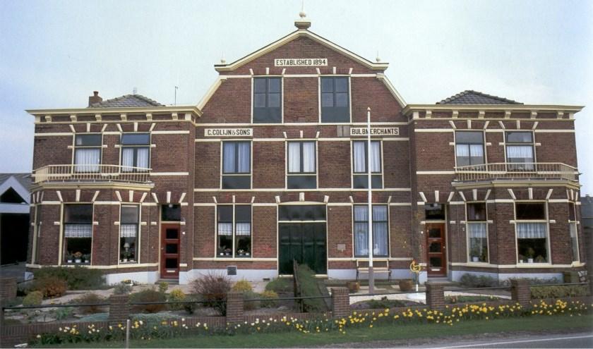 De bollenschuur van Colijn aan de Jacoba van Beierenweg in Voorhout is een Rijksmonument. | Foto: Werkgroep Bollenerfgoed.