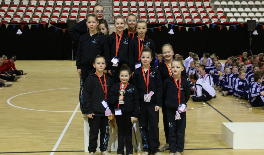 Het Juvenille large team van Inspiration is Nederlands kampioen.   Foto: pr.