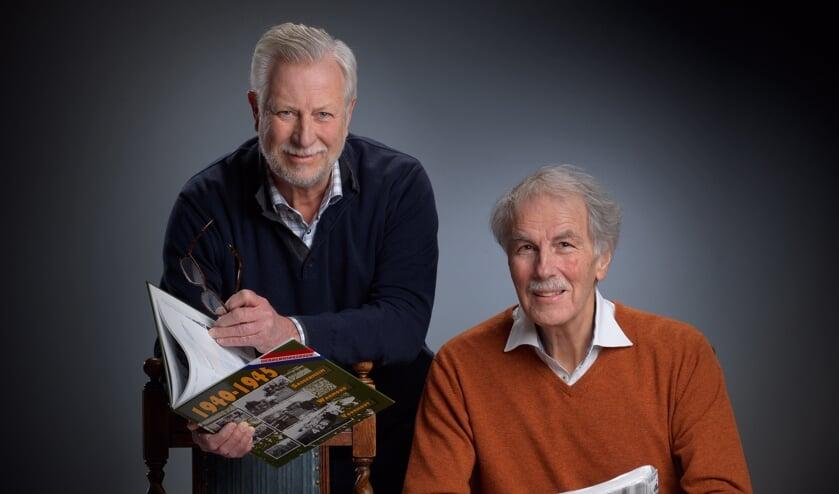 Peter van der Voort (links) en Herman van Amsterdam. Samen goed voor het vervaardigen van meer dan vijftig streekboeken.