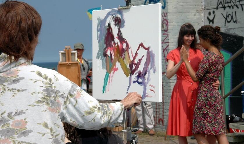 Vanaf 19 juni wordt wederom het Schilderfestival gehouden met deelnemers uit Europa, Amerika en Australië   Foto: Archief