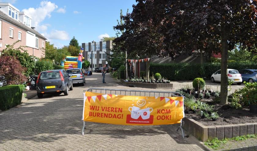 De Rozemarijnhof in Voorhout vierde al eerder Burendag.   Foto: pr.