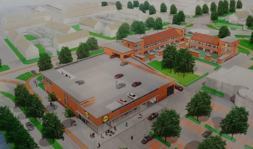 Een impressie van de bouwplannen voor het Amaliaplein.