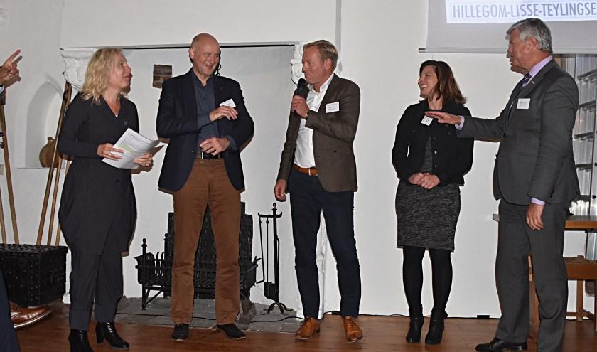 De wethouders van Teylingen, Hillegom en Lisse bij de lancering. | Foto: pr.