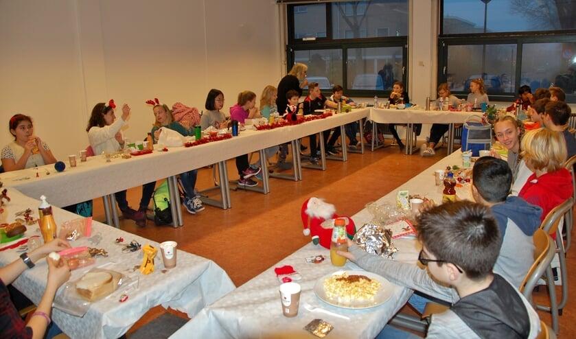 Kerstontbijt met de klas.   Foto PR