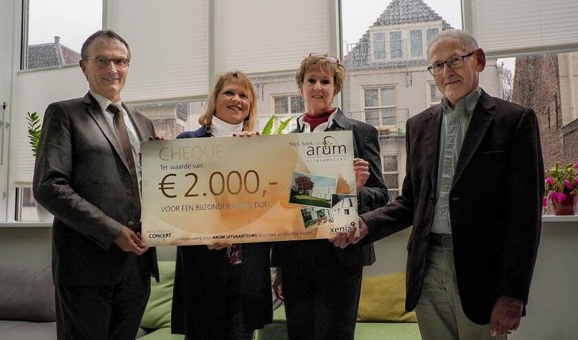 V.l.n.r. Nico Soek van Arum, Jacqueline Bouts van Xenia, Mariëtte Keppel van  Xenia en Kees van Pernis van Vox Humana.