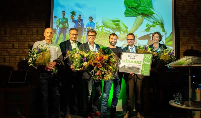 De winnaars van Duurzaamheidsprijs Duin- & Bollenstreek 2018.   Foto: Martine Goulmy