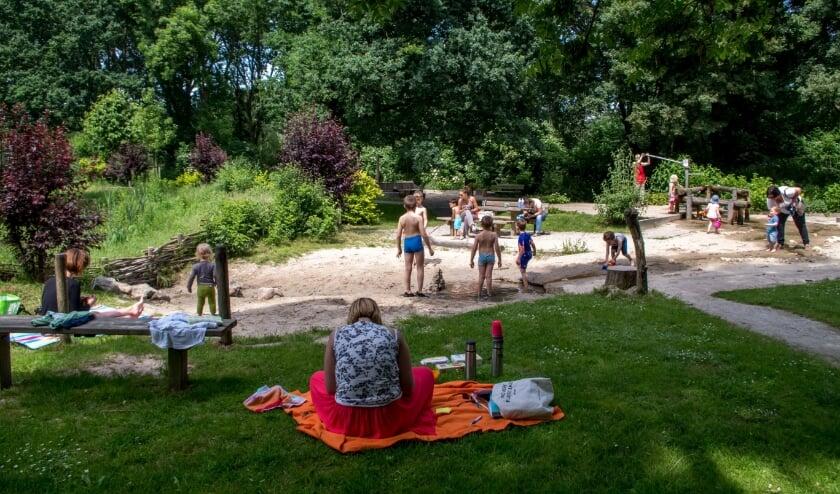 <p>De natuurspeeltuin in de zomer van 2016.&nbsp;</p>