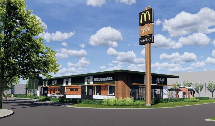 Een impressie van de geplande nieuwe McDonald's aan de Zeilmakerstraat. | Foto: pr