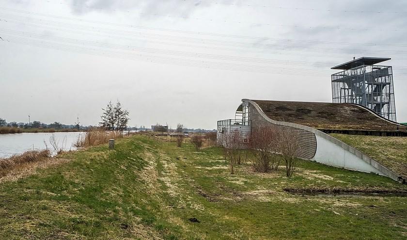 Het voormalige A4-informatiecentrum dat tot voor kort nog in gebruik was door TenneT.   Archieffoto: J.P. Kranenburg