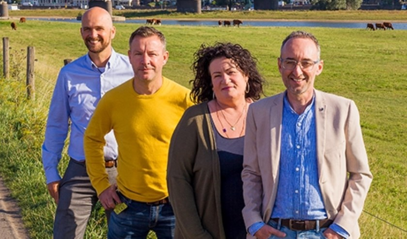 v.l.n.r.: Marc Strijker, Wim Groot Koerkamp, Caroline van der Plas, Henk Vermeer