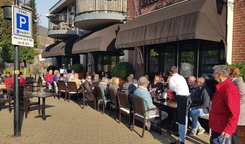 Tijdens het Hillegoms Bokbier Event in 2018 waren de terrassen steeds goed gevuld.