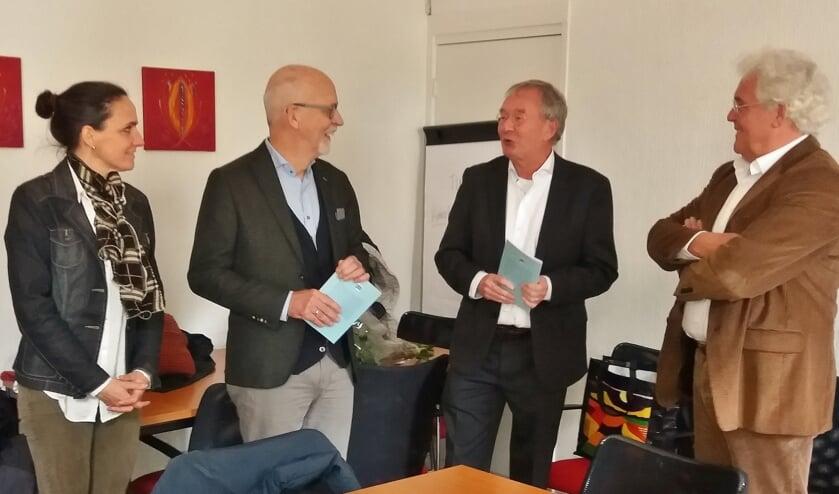 Willemien Timmers, Arjan de Kok,  Koos van der Bruggen en Cor van Beuningen.
