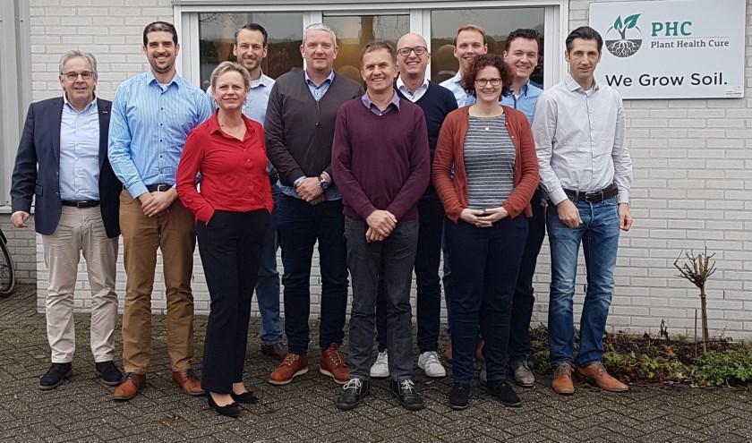 Samenwerking PHC.jpg Het team Crop Care van Royal Brinkman en de specialisten van Plant Health Cure.