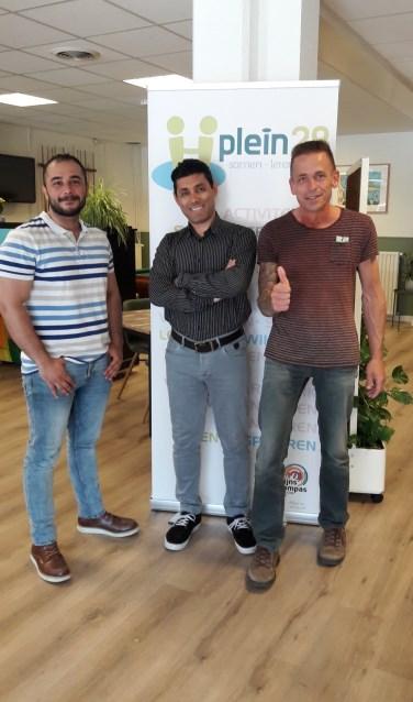 Omar Saeid en Olaf zetten zich in november bij SDO in op samen te sporten. | Foto: pr