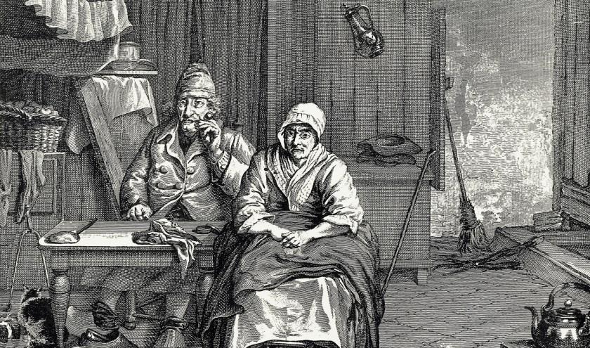 Het stokoude echtpaar Paul Vincents (109) en Barbera Jansen (106). | Foto: PR