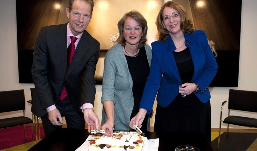 De burgemeesters van de drie HLT gemeenten. | Foto: Willem Krol, archief.