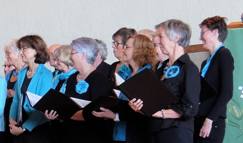 Op de foto een deel van het koor Appassionato, dat een zeer gevarieerd repertoire beheerst.