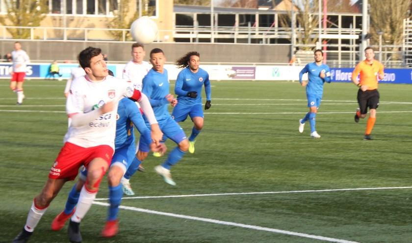 Emiel Wendt speelde dominant en was met zijn treffer weer belangrijk voor Noordwijk. | Foto: WS