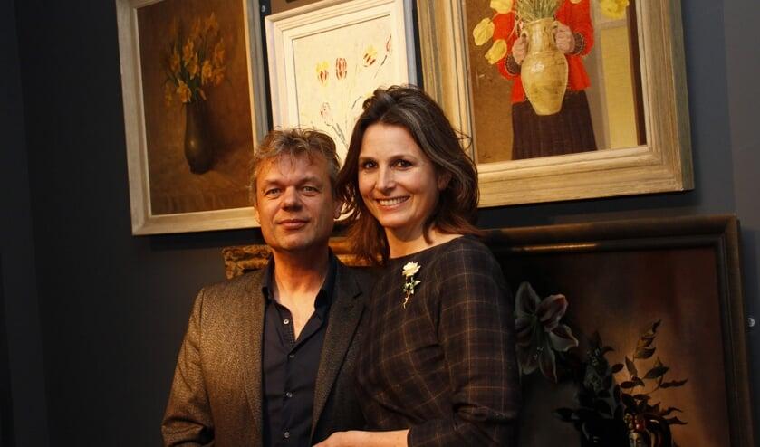Werner van den Belt en Laura van Breen bij de opening van de expositie.