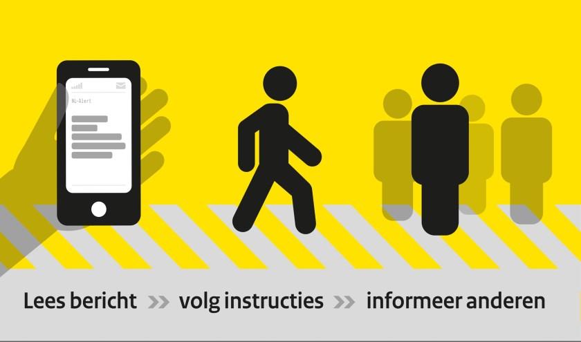 Het NL-Alert waarschuwt bij een ramp in jouw omgeving en laat zien wat je moet doen.