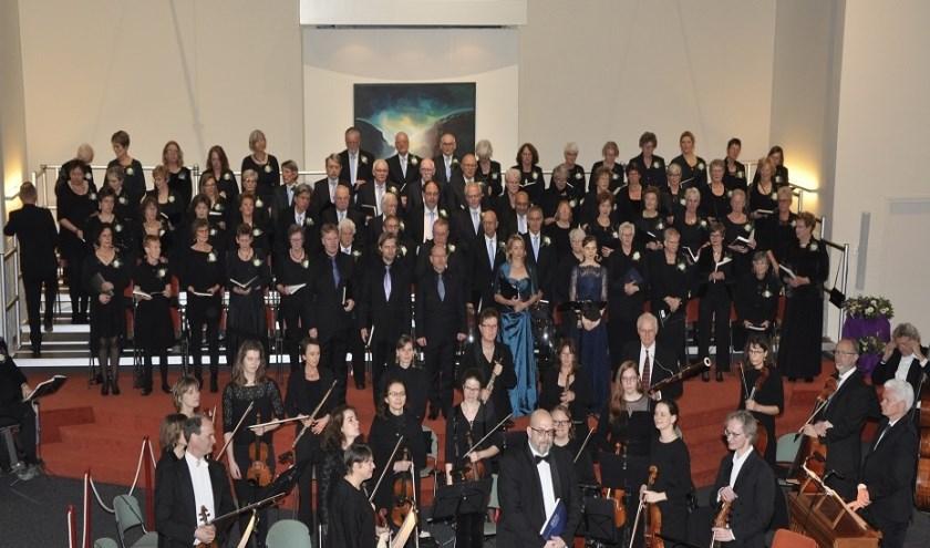 Het Haarlemmermeers Oratorium Koor tijdens de uitvoering van de uitvoering van de Johannes Passion begin dit jaar.