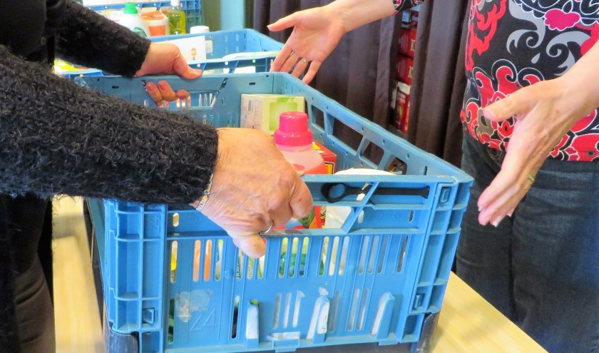 Zo'n 40 huishoudens maken wekelijks gebruik van de Voedselbank. | Foto: PR