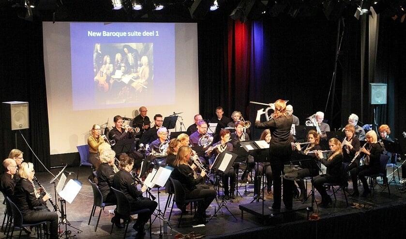 Harmonie St. Matthias repeteert op maandagavond in Warmond. | Foto: PR