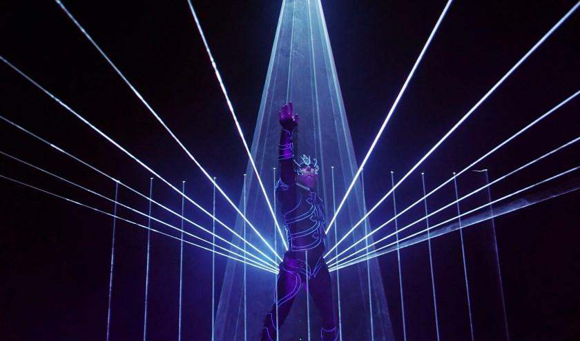 Laserman is een van de acts in het Groot Kerstcircus.   Foto: pr.