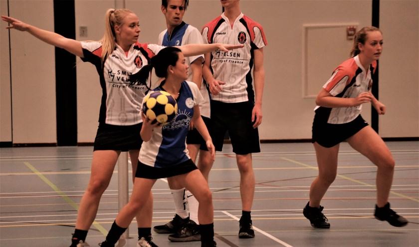 Min-Zi van Mackelenberg scoorde haar eerste punten in het shirt van Fluks.   Foto: PR