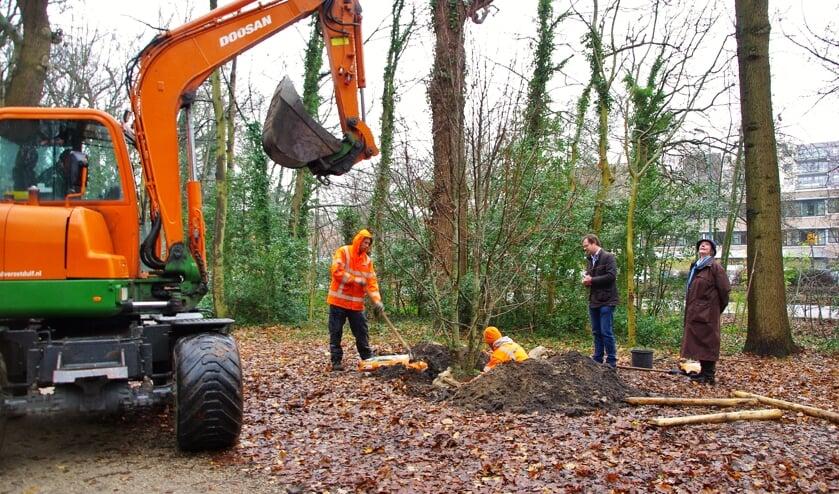 In december 2019 werden in het Bos van Wijckerslooth bomen geplant. | Foto Willemien Timmers