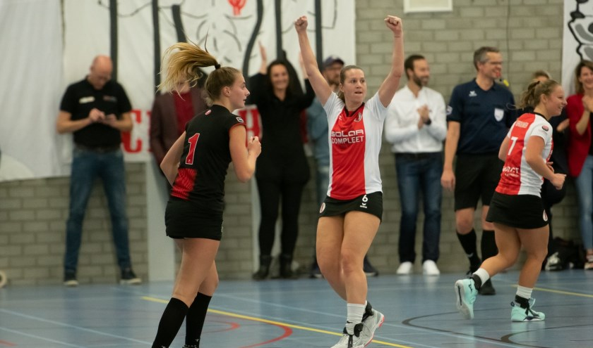 Met 735 doelpunten in elf seizoen Korfbal League is Celeste Split topscoorder aller tijden bij de dames.   Foto: pr./Rene van Dam