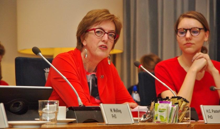 Ria Pasterkamp (PrO) initieerde tijdens haar laatste raadsvergadering de motie 'Vaart in de samenwerking Leidse regio'.   Foto Willemien Timmers