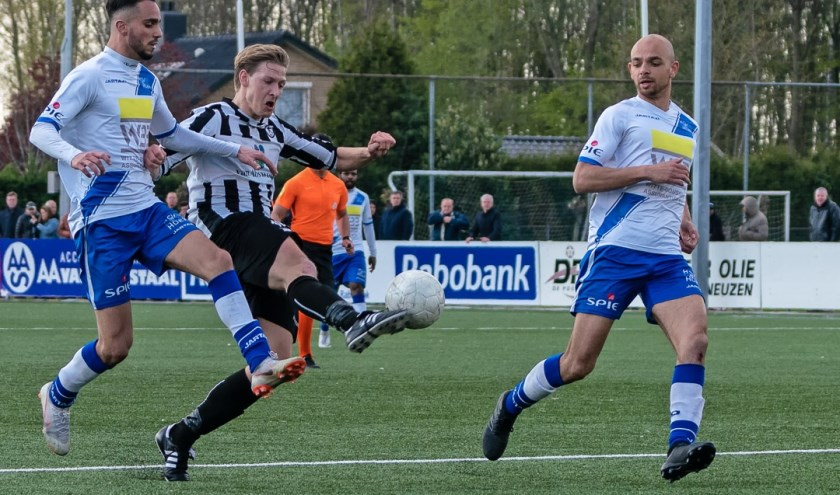 Rick van Dijk maakte het enige doelpunt voor SJC. | Foto: Johanna Wever