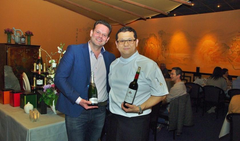 Ka Lun Ip (China House) had een prachtig menu samengesteld. Vinoloog Argo Porte schonk de wijnen.