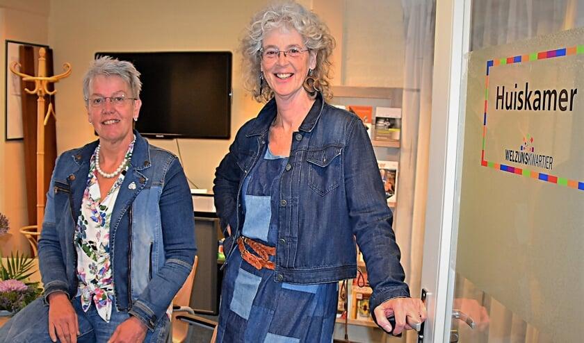 Rita Smit en Maria van der Plas (rechts).