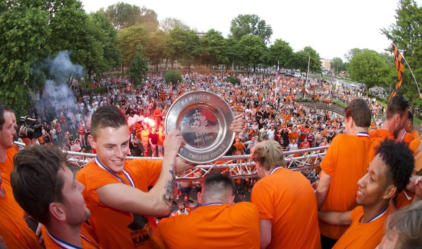 VV Katwijk werd vorig jaar kampioen in de Tweede Divisie.   Foto: vv Katwijk