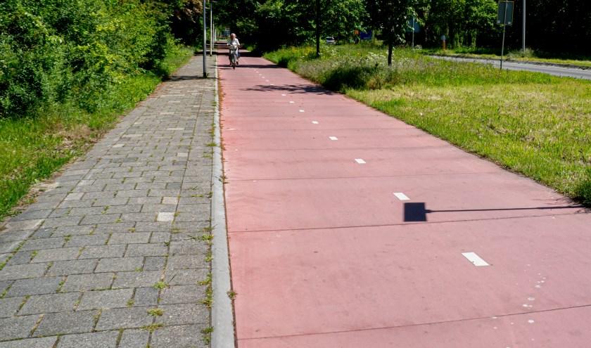 Het fietspad langs de Persant Snoepweg is opgeknapt, maar de staat van veel andere fietspaden laat te wensen over. Foto: J.P. Kranenburg