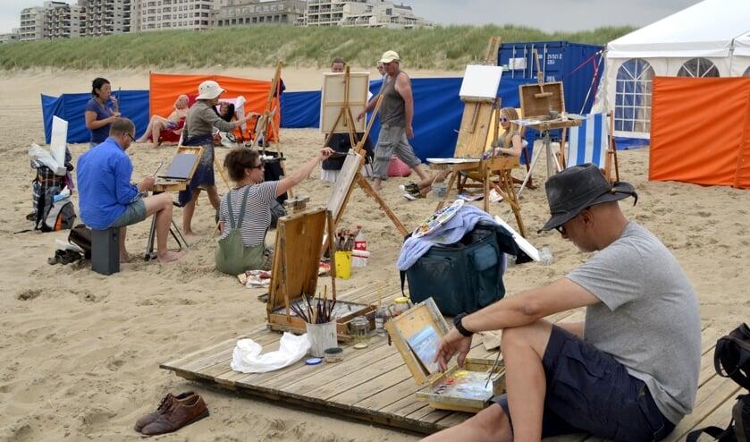 Schilderfestival op het strand | Foto: Archief