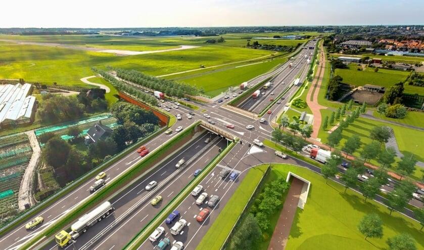 Impressie van de toekomstige Tjalmaweg.