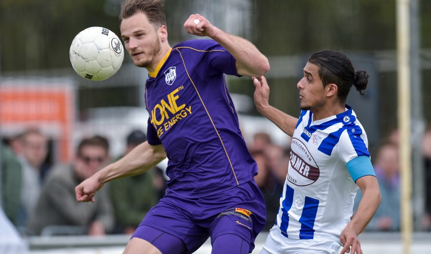 25-05-2019: Voetbal: VVSB v FC Lienden: Noordwijkerhout2e Divisie seizoen 2018-2019L-R Frank Tervoert van VVSB, Milan Intezar van FC Lienden