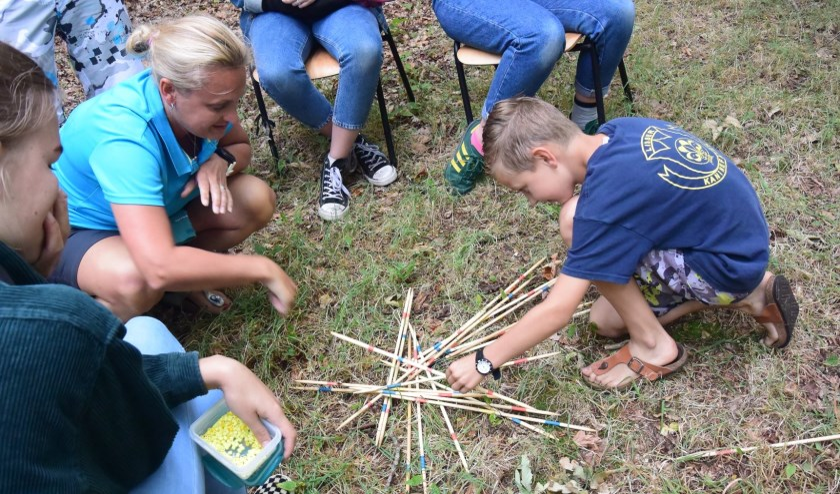 Spelletjes waarmee de scouts goudklompjes konden verdienen.