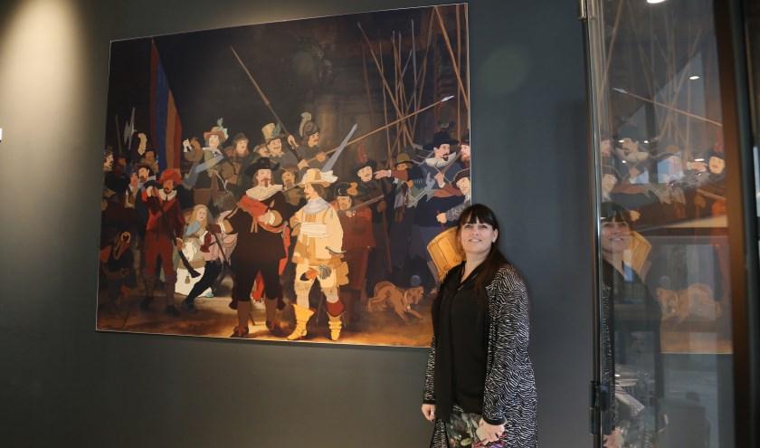 Natacha Hulsebosch bij haar Nachtwacht.   Foto: pr